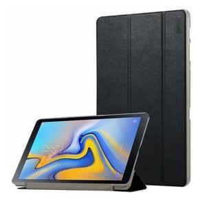 ENKAY Silk Texture Horizontal Flip PU Leather Case for Galaxy Tab A 10.5 / T595 & T590, with Three-folding Holder & Sleep / Wake-up Function(Black)