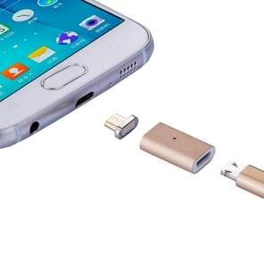 Micro USB Female to Micro USB Male Magnetic Adapter, For Samsung / Huawei / Xiaomi / Meizu / LG / HTC and Other Smartphones(Gold)