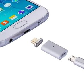 Micro USB Female to Micro USB Male Magnetic Adapter, For Samsung / Huawei / Xiaomi / Meizu / LG / HTC and Other Smartphones(Silver)