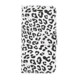 Voor Samsung Galaxy S9+ luipaard patroon PU + PC horizontaal Flip lederen hoesje met houder & opbergruimte voor pinpassen & portemonneewit
