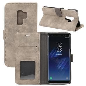 Voor Samsung Galaxy S9+ Sheep Bar Materiaal PU + PC horizontaal Flip lederen hoesje met houder & opbergruimte voor pinpassen & portemonnee(grijs)