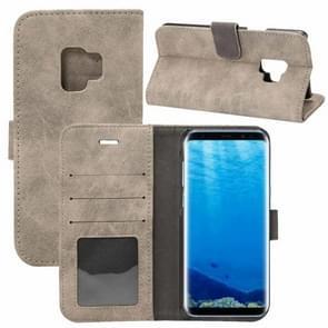 Voor Samsung Galaxy S9 Sheep Bar Materiaal PU + PC horizontaal Flip lederen hoesje met houder & opbergruimte voor pinpassen & portemonnee(grijs)