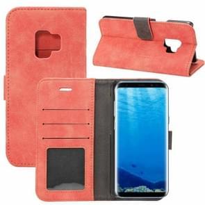 Voor Samsung Galaxy S9 Sheep Bar Materiaal PU + PC horizontaal Flip lederen hoesje met houder & opbergruimte voor pinpassen & portemonnee(rood)