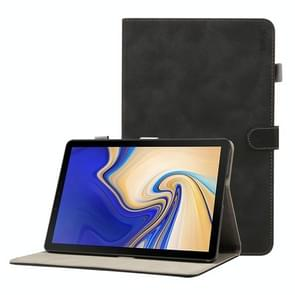 ENKAY Retro Frosted Texture Horizontal Flip Leather Case for Galaxy Tab S4 10.5 T830 / T835, with Holder & Sleep / Wake-up Function (Black)