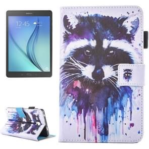 For Samsung Galaxy Tab A 7.0 (2016) / T280 Lovely Cartoon Raccoon Pattern Horizontal Flip Leather Case with Holder & Card Slots & Pen Slot