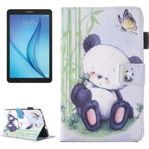 For Samsung Galaxy Tab E 8.0 / T377 Lovely Cartoon Panda Pattern Horizontal Flip Leather Case with Holder & Card Slots & Pen Slot
