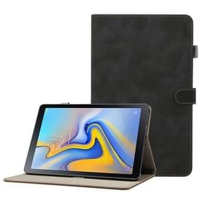 ENKAY Retro Frosted Texture Horizontal Flip Leather Case for Galaxy Tab A 10.5 T590 / T595, with Holder & Sleep / Wake-up Function (Black)
