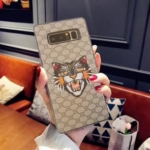 For Samsung Galaxy Note 8 Animal Embroidery Cat Pattern Protective Back Cover Case