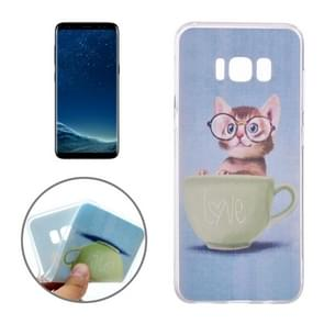 For Samsung Galaxy S8 Glasses Cat Pattern TPU Protective Case
