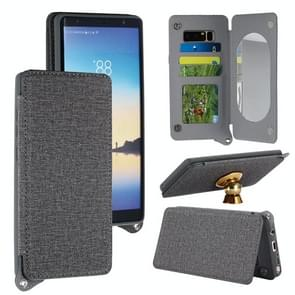 For Samsung Galaxy Note 8 Protective Back Case Cover with Card Slot & Photo Frame & Holder & Mirror (Grey)