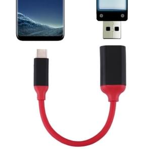 15cm Aluminum Alloy Head USB-C / Type-C 3.1 Male to USB 3.0 Female OTG Converter Adapter Cable for Samsung Galaxy S8 & S8 + / LG G6 / Huawei P10 & P10 Plus / Oneplus 5 / Xiaomi Mi6 & Max 2 /and other Smartphones (Red)