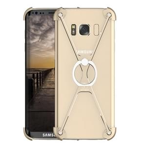 OATSBASF for Samsung Galaxy S8 Type-X Metal Four Angle Anti Falling Protective Case with Ring Holder(Gold)