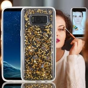 For Samsung Galaxy Note 8 Anti-Gravity Nano-suction Technology Dropproof Sticky Selfie Glitter Sequins Pattern TPU Protective Back Cover Case (Gold)