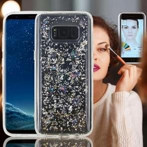 For Samsung Galaxy Note 8 Anti-Gravity Nano-suction Technology Dropproof Sticky Selfie Glitter Sequins Pattern TPU Protective Back Cover Case (Silver)
