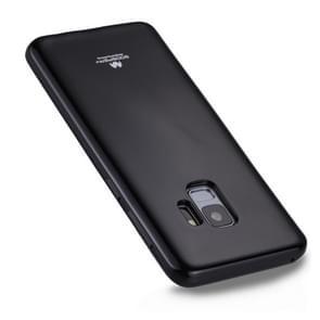 MERCURY GOOSPERY PEARL JELLY Series voor Samsung Galaxy S9 TPU Full Coverage beschermings Back Cover hoesje(zwart)