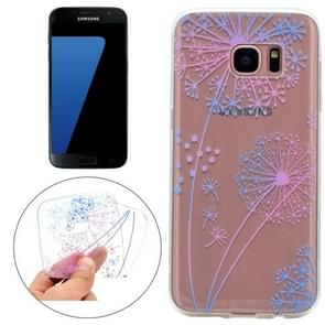 For Samsung Galaxy S7 Colorful Dandelion Pattern TPU Protective Case