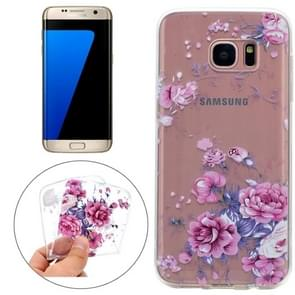 For Samsung Galaxy S7 Edge Colorful Pink Flower Pattern TPU Protective Case