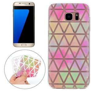 For Samsung Galaxy S7 Edge Colorful Diamond Shaped Checkered Pattern TPU Protective Case