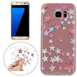 For Samsung Galaxy S7 Edge Colorful Stars Pattern TPU Protective Case
