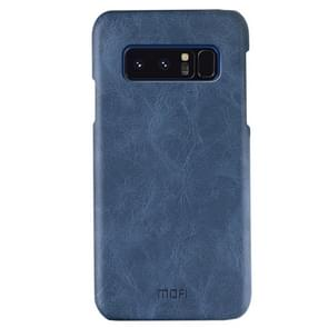 MOFI for Samsung Galaxy Note 8 Crazy Horse Texture Leather Surface PC Protective Back Cover Case (Dark Blue)