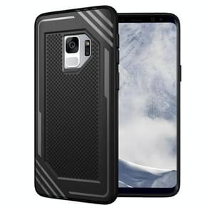 Voor Samsung Galaxy S9 Lattice structuur TPU Shockproof beschermings Back Cover hoesje(zwart)