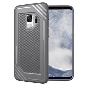 Voor Samsung Galaxy S9 Lattice structuur TPU Shockproof beschermings Back Cover hoesje(grijs)