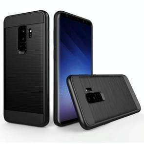Voor Samsung Galaxy S9+ Geborstelde structuur Dropproof beschermings Back Cover hoesje (zwart)