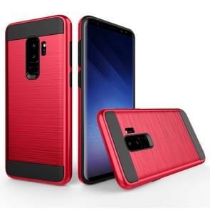 Voor Samsung Galaxy S9+ Geborstelde structuur Dropproof beschermings Back Cover hoesje (rood)