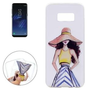 For Samsung Galaxy S8+ / G9550 Summer Girl Pattern Soft TPU Protective Case