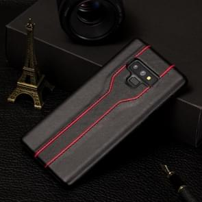Diamond Texture PC + PU Leather Case for Galaxy Note9(Black)