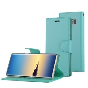 MERCURY GOOSPERY SONATA DIARY for Samsung Galaxy Note 8 Business Style Magnetic Clasp Horizontal Flip Leather Case with Holder & Card Slots & Wallet(Green)
