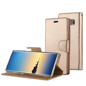 MERCURY GOOSPERY SONATA DIARY for Samsung Galaxy Note 8 Business Style Magnetic Clasp Horizontal Flip Leather Case with Holder & Card Slots & Wallet(Gold)