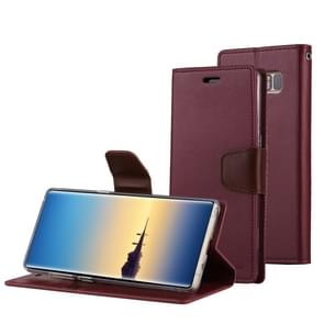MERCURY GOOSPERY SONATA DIARY for Samsung Galaxy Note 8 Business Style Magnetic Clasp Horizontal Flip Leather Case with Holder & Card Slots & Wallet(Wine Red)
