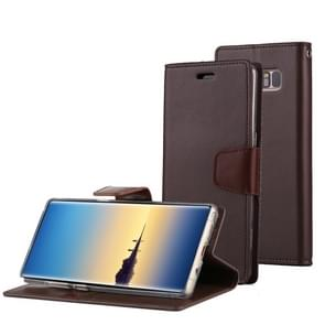 MERCURY GOOSPERY SONATA DIARY for Samsung Galaxy Note 8 Business Style Magnetic Clasp Horizontal Flip Leather Case with Holder & Card Slots & Wallet(Brown)