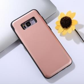 MERCURY GOOSPERY for Samsung Galaxy S8+ / G955 TPU + PC Sky Slide Bumper Protective Back Case with Card Slots(Rose Gold)