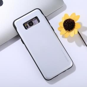 MERCURY GOOSPERY for Samsung Galaxy S8+ / G955 TPU + PC Sky Slide Bumper Protective Back Case with Card Slots(Silver)