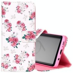 Voor Samsung Galaxy S9 Roses patroon horizontaal Flip lederen hoesje met houder & opbergruimte voor pinpassen & portemonnee