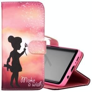 Voor Samsung Galaxy S9 Wishing Girl patroon horizontaal Flip lederen hoesje met houder & opbergruimte voor pinpassen & portemonnee