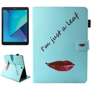 For Samsung Galaxy Tab S3 9.7 inch T820 / T825 Lips and Leaves Pattern Horizontal Flip Leather Case with Holder & Wallet & Card Slots & Holder