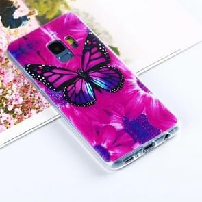 Voor Samsung Galaxy S9 Painting Kleurrijk vlinder patroon TPU beschermings Back hoesje