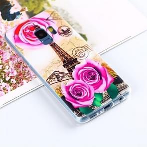 Voor Samsung Galaxy S9 Painting Rose Towel patroon TPU beschermings Back hoesje