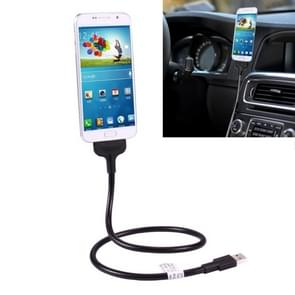 Multi-functional Metal Soft Hose Micro USB to USB Data Charging Cable with Flexible Desk Dock Car Dock Function, For Samsung, HTC, Sony, Lenovo, and other Smartphones