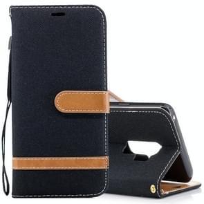 Voor Samsung Galaxy S9+ Denim structuur TPU + PU horizontaal Flip lederen hoesje met houder & opbergruimte voor pinpassen & portemonnee & Lanyard (zwart)