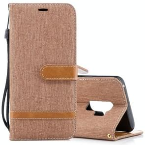 Voor Samsung Galaxy S9+ Denim structuur TPU + PU horizontaal Flip lederen hoesje met houder & opbergruimte voor pinpassen & portemonnee & Lanyard (bruin)