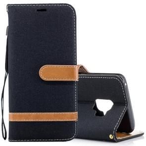 Voor Samsung Galaxy S9 Denim structuur TPU + PU horizontaal Flip lederen hoesje met houder & opbergruimte voor pinpassen & portemonnee & Lanyard (zwart)