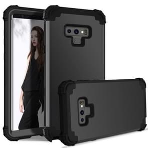 Shockproof 3 in 1 No Gap in the Middle Silicone + PC Case for Galaxy Note9(Black)