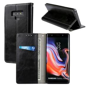 Retro Book Design Horizontal Flip PU Leather Case with Holder & Card Slots for Galaxy Note9(Black)