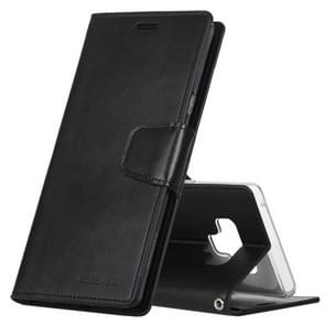 MERCURY GOOSPERY SONATA DIARY Horizontal Flip Leather Case for Galaxy Note9, with Holder & Card Slots & Wallet(Black)