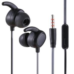 012 1.2m Stereo Sound In-ear Wire Control Sports Koptelefoon met Mic, Voor iPhone, iPad, Galaxy, Huawei, Xiaomi, LG, HTC en Other Smartphones(zwart)