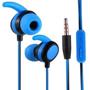 012 1.2m Stereo Sound In-ear Wire Control Sports Koptelefoon met Mic, Voor iPhone, iPad, Galaxy, Huawei, Xiaomi, LG, HTC en Other Smartphones(blauw+Zwart)
